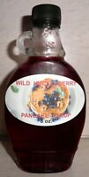 Homemade WILD HUCKLEBERRY Pancake Syrup, 8 oz. Bottle, All Natural Ingredients
