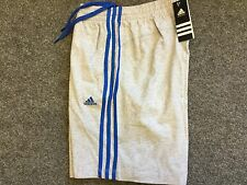 Adidas 3 stripe adidas clima fleece jersey short marl grey S small 30/32 bnwt