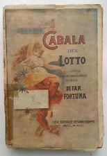 LA VERA CABALA DEL LOTTO 1936 ED. CIOFFI