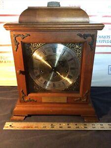 Vintage Hamilton Chime Clock 340-020 West Germany (2 Jewels) w/ Key