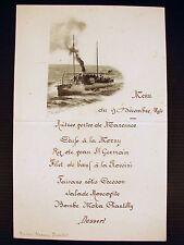 Menu Escadre de Réserve Richelieu 9 dec 1894 Madame Amiral Prouhet