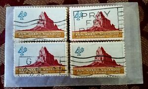 USA, SCOTT #1191, USED LOT OF 100 NEW MEXICO STATEHOOD IN VERY GOOD CONDITION