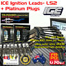 ICE 9.0mm IGNITION LEADS & PLATINUM SPARK PLUGS Fits Commodore VZ -VF LS2 6.0L
