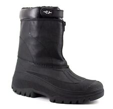 Clifford James Unisex UK 7 Black Black Faux Fur Lined Zip Fastening Winter Boots