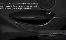 BLACK LEATHER REAR DOOR ARMREST SKIN COVERS FITS BMW 6 SERIES E63 E64 04-10