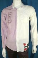 NAPAPIJRI Taille S Superbe chemise manches longues homme rose et écru shirt