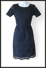 Oasis Women's Short Sleeves Lace Embroidered Floral Dress  UK 6/8  EUR 34/36