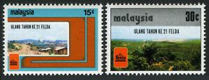 Malaisie 153-154, MNH Fédéral Pays Développement Authority, 21st Anniv. 1977