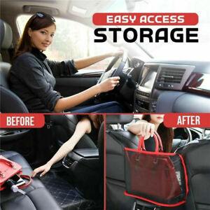 UK Car Advanced Net Pocket Handbag Holder Organizer Seat Storage Mesh Net Black