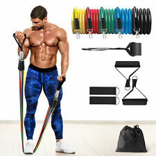 2020 Upgrade - Heavy Resistance Bands Set Door Ankle Straps At Home Workout Gym