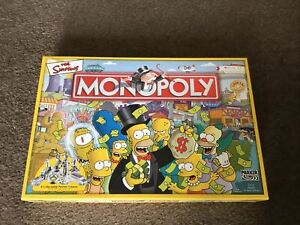 The Simpsons Monopoly 100% Complete Board Game Family Fun VGC