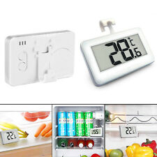 Mini LCD Fridge Freezer Thermometer Waterproof Hanging Hook Magnet holder UK