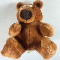 """Recycled Paper Products Plush Bear VTG Stuffed 10"""" Toy Teddy Funny Eyes Cuddly"""