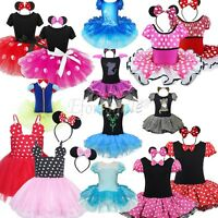 Kid Girl Baby Xmas Minnie Mouse Outfits Party Costume TutuBallet Dress+ Headband