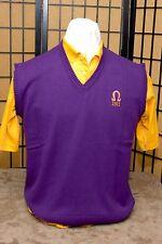 Omega Psi Phi Deep Purple embroidered vest