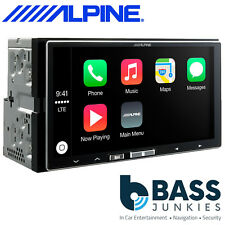 """Alpine iLX-700 7"""" Apple CarPlay Double Din Mechless iPhone Car Stereo Player"""
