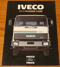 FORD IVECO 8 X 4 CHASSIS CAB LORRY TRUCKS SALES BROCHURE 1980s