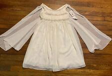 Wonder by Jenny Packham Chiffon Beaded Flower Girl Child Dress Sz 10 - NWT