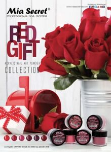 Mia Secret Nail Art Acrylic Professional Powder 6 Colors Set - RED GIFT