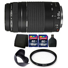 Canon EF 75-300mm Autofocus Lens Bundle f/ Canon EOS Rebel T6 T6i 70D 80D Camera