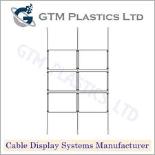Cable Window Estate Agent Display - 2x3 A4 Landscape - Suspended Wire Systems