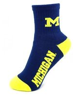 Michigan Wolverines NCAA Navy Deuce Quarter Socks Youth