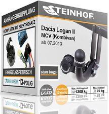 Anhängerkupplung starr DACIA LOGAN II MCV Kombi ab 07.2013+E-SATZ 13p SPEZIFISCH