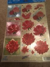 Dufex Die Cut Decoupage - 1 Sheet - Pink Flowers set 1