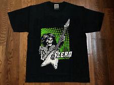 Vtg~Zero Skateboards 90s Skate Guitar Skeleton Graphic Tee~Reprint