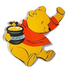 "Vintage Winnie the Pooh Wall Art Hanger Thick Cardboard 1964 Nursery Decor 11"""