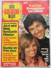 Das Goldene Blatt 1/1975, Zarah Leander, Ingrid Steeger, Christiane Rücker,