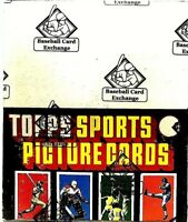 1986 Topps Football Rack Box BBCE-No Line. Investment Piece-Rice RC $125,655.00.