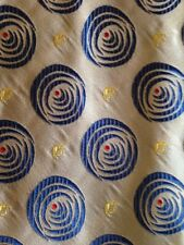 Iceberg Men's Silk Neck Tie Blue Geometry Pattern Made In Italy