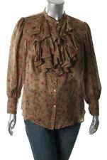 c44d5e193c New RALPH LAUREN Womens Shirt Blouse Silk Ruffled XL 14W Fall Floral