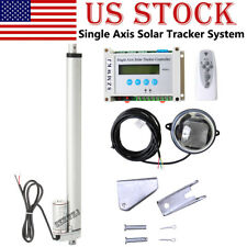 Lcd 1kw Solar Tracking Single Axis Sunlight Tracker Amp14 Dc Linear Actuator Kit