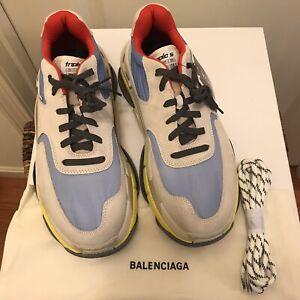NEW Balenciaga Triple S Trainer Sneakers Sz 9 US / 42 EUR - Blue/Gray