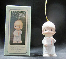 Precious Moments You're A Number One In My Book Teacher Porcelain Ornament Boxed