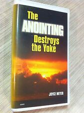 THE ANOINTING DESTROYS THE YOKE, JOYCE MEYERS, 5 AUDIO  CASSETTE SET