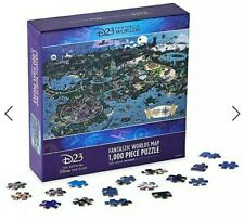 NEW D23 EXCLUSIVE FANTASTIC WORLDS MAP 1000 PIECE LIMITED EDITION JIGSAW PUZZLE