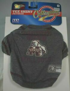 (NCAA) Mississippi State University Bulldogs T-Shirt/Shirt (Pet, Dog)Medium