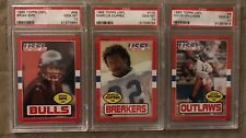 1985 Topps USFL Marcus Dupree #105, Brian Sipe #56, Doug Williams #8 PSA 10 LOT