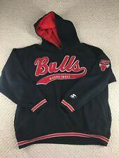 Vintage Chicago Bulls Sweatshirt Stater Script Hoodie Basketball NBA jersey hat