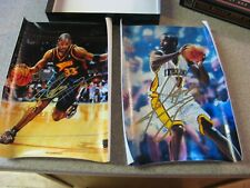 Jermaine Oneal and Antawn Jamison  2000-01Topps Reserve Canvas Photo Autographs