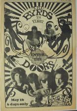 THE DOORS BYRDS WHISKY 1967 ORIGINAL NEWSPAPER CONCERT AD POSTER
