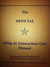PPSH-41 Submachine Gun Manual ppsh41 ppsh 41 7.62x25