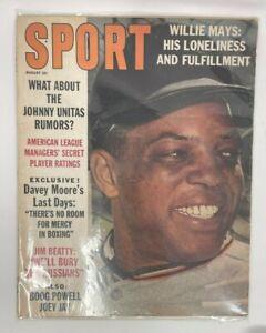 August 1963 Sport Magazine Newsstand Edition Willie Mays San Francisco Giants