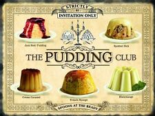 Pudding Club TORTE CUCINA BAR RISTORANTE Bistro misura media Metallo Targa in
