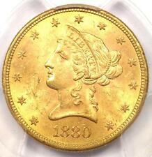 1880-S Liberty Gold Eagle ($10 Coin) - Pcgs Ms63 - Rare in Ms63 - $2,400 Value!