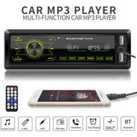 Single 1DIN Car Stereo MP3 Player Bluetooth FM Radio USB AUX Receiver Head Unit