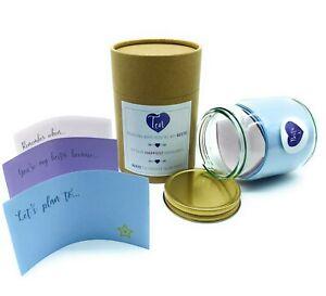 Reasons You're My Bestie Best Friend Memories Friendship DIY Glass Jar Gift Set